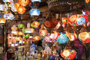 Colorful Turkish lanterns, Grand Bazaar in Istanbul